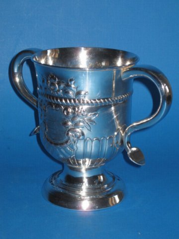 18th Century two handled cup, circa 1765 - Click to enlarge and for full details.