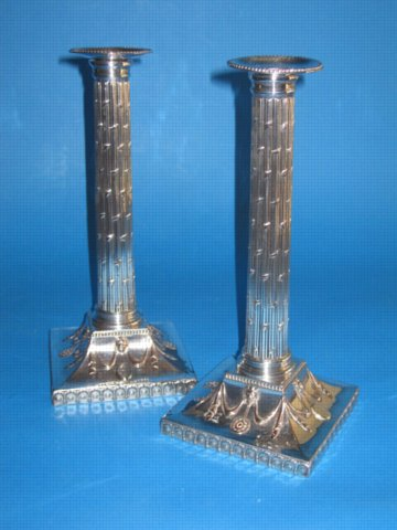 Pair of 18th Century Candlesticks, circa 1780 - Click to enlarge and for full details.