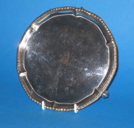 Small 18th Century Salver, circa 1765. - Click to enlarge and for full details.