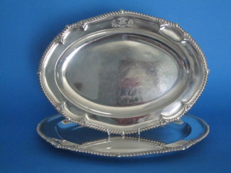 Pair of Oval serving dishes, circa 1825 - Click to enlarge and for full details.