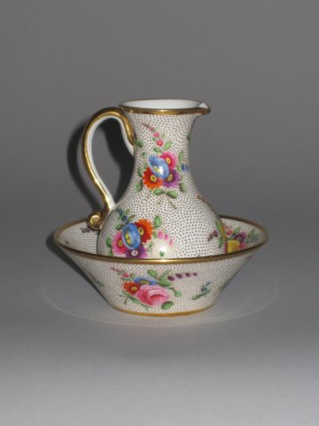 SPODE MINIATURE EWER & BASIN. CIRCA 1814-16 - Click to enlarge and for full details.