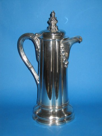 Old Sheffield Plate Silver Wine or water flagon, circa 1825 - Click to enlarge and for full details.