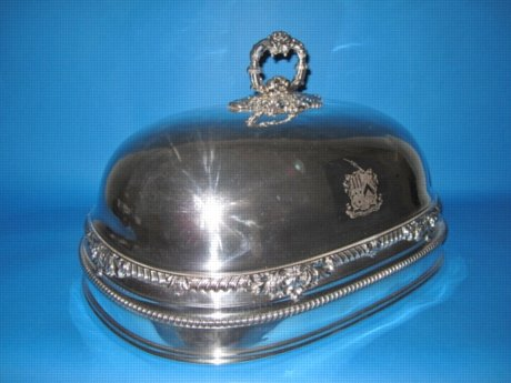Unusual Old Sheffield plate silver dish cover, by Holy & Co. circa 1820. - Click to enlarge and for full details.