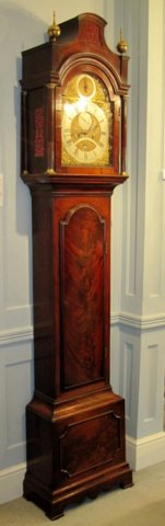 A MAHOGANY LONGCASE CLOCK, JAMES CHATER, LONDON, CIRCA 1775 - Click to enlarge and for full details.