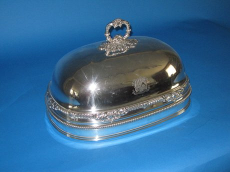 Old Sheffield Plate Silver Dish Cover, circa 1820. - Click to enlarge and for full details.