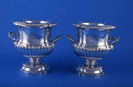 Pair of Regency Old Sheffield Plate Wine Coolers - Click to enlarge and for full details.